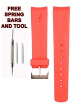Nautica A18639G 22mm Red  Diver Rubber Watch Strap Band Anti Allergic NTC106 - $28.71