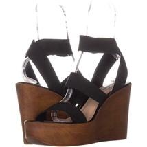 Steve Madden Blondy Wedge Heel Sandals 801, Black , 11 US - $33.59