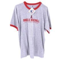 Angels Genuine Merchandise MLB NWT Mens Sz L T Shirt Halo A Gray Red - $9.89