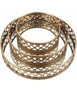 Set of 3 Mirrored Trays with Lattice Details by Valerie  Gold  CA2 - $82.44