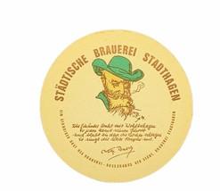 Beer drink cocktail Coaster ephemera advertising Germany Brauerei Stadth... - $19.19