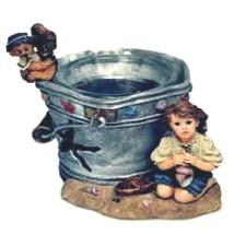 """Boyds Dollstone Votive """"Lucinda & Dawn..By the Sea"""" Votive- #27951-NIB- 1999 - $19.99"""