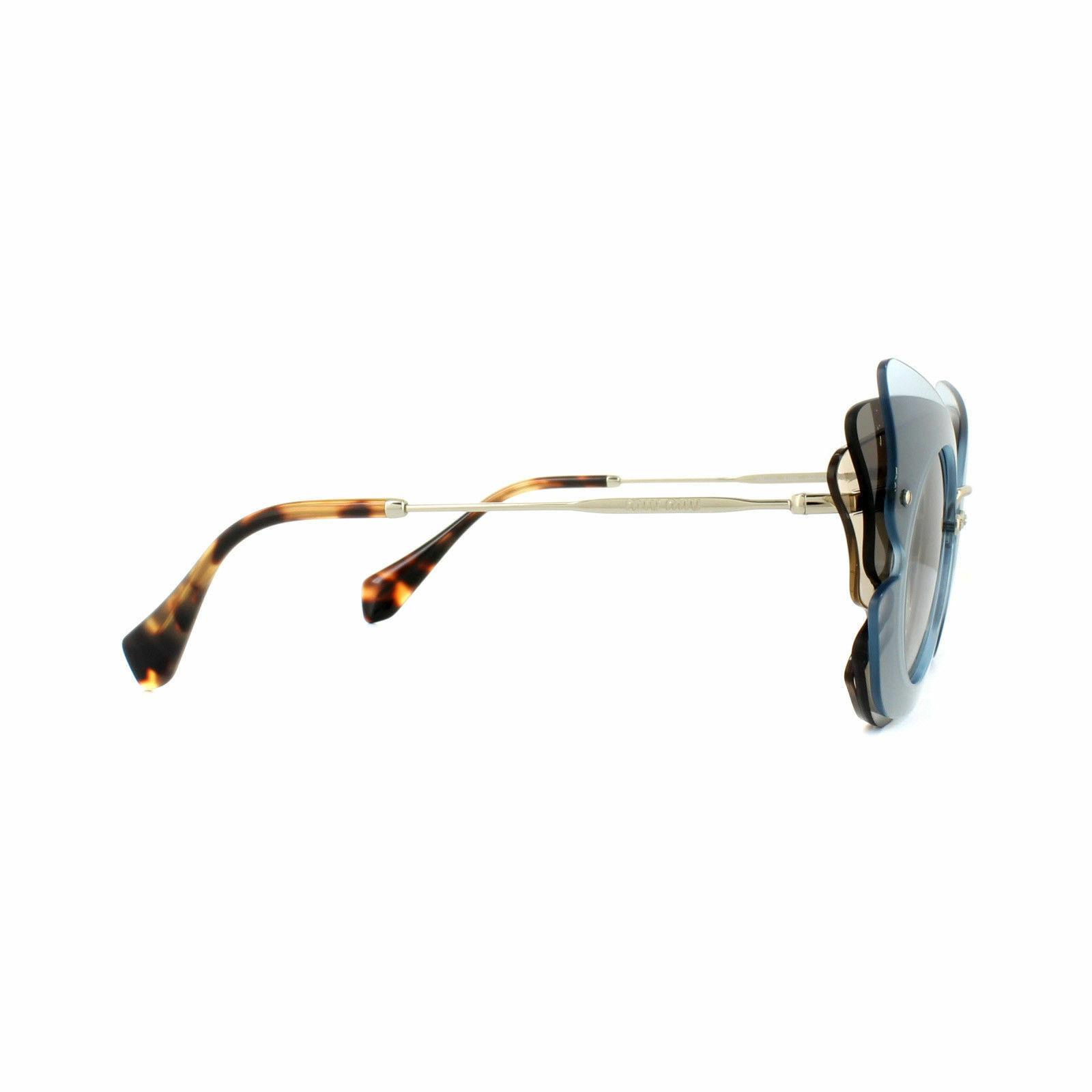 Miu Miu Sunglasses MU02SS VA00A7 63MM Azure Brown Grey Gradient