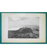HIATI View of Port-au-Prince - 1891 Antique Print Engraving - $20.25