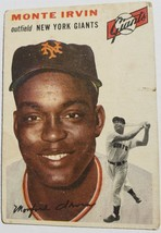 ORIGINAL 1954 TOPPS CARDS MONTE IRVIN OUTFIELDER NEW YORK GIANTS VINTAGE... - $29.70