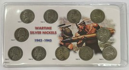 1942 - 1945 P D S Silver Wartime Nickel 11 Coin Circulated Complete Set  - $26.85