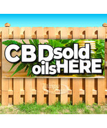 CBD OILS SOLD HERE Advertising Vinyl Banner Flag Sign SMOKE SHOP OILS ED... - $13.53+