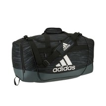 BLACK/DARK GREEN adidas Defender III Medium Duffle Bag (D) - $168.29