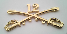 12TH CAVALRY INSIGNIA SWORDS Military Veteran Army Hat Pin 16042 (LARGE)... - $7.91