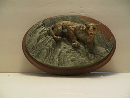 Vintage Avon American Wildlife Collection Cougar Wall Plaque Decoration - $19.79