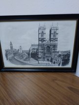 Two Ron Marsden Lithegraphs of London Westminster Abbey and Big Ben.House of Par image 3