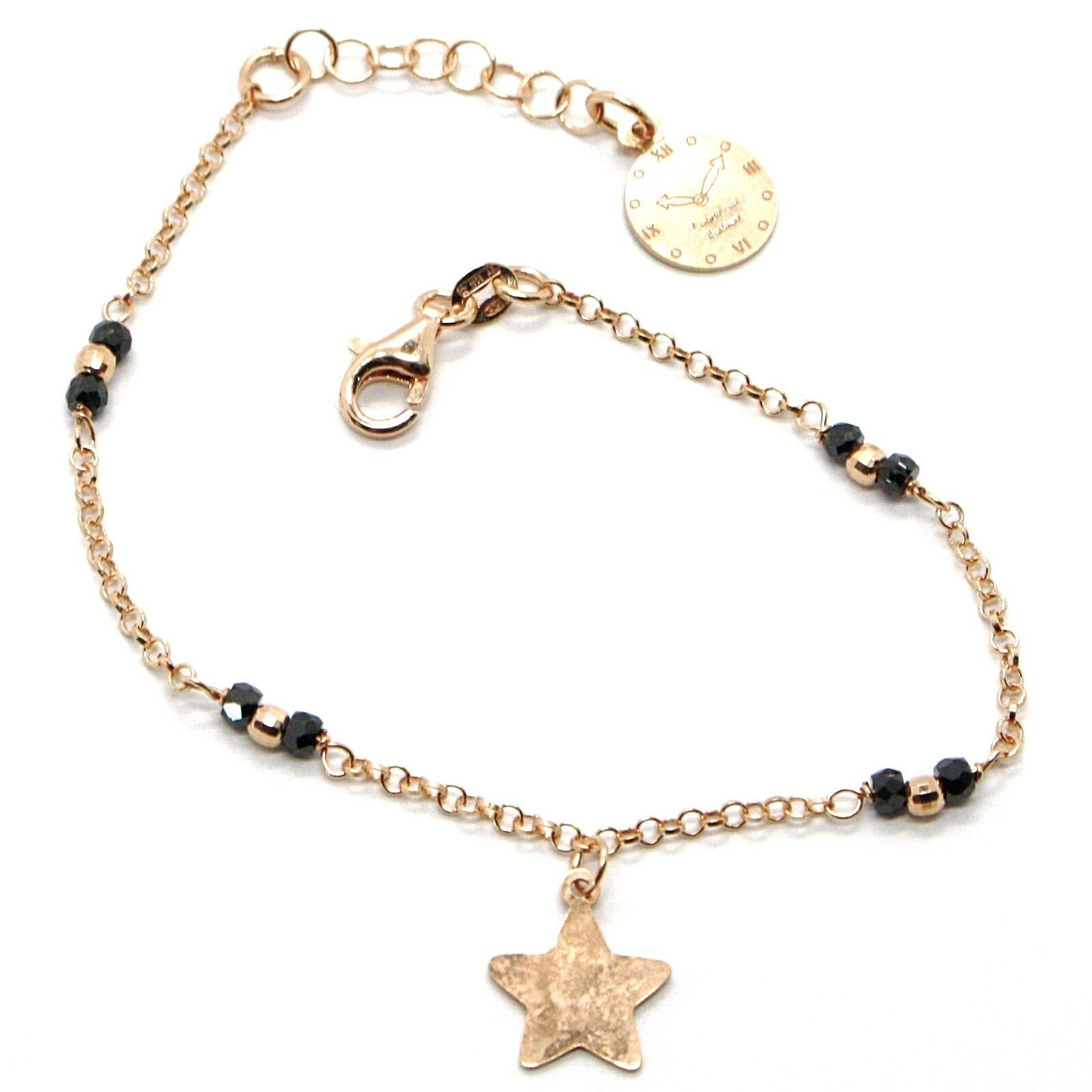 Silver 925 Bracelet Laminated Pink Gold in le Fairytale Star AG-905-BR-63