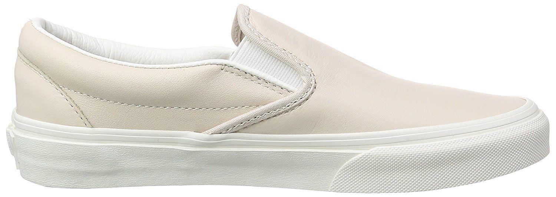 7f15f7b0ec New Vans Unisex Classic Slip On Leather Pink True White Skate Shoes Mens 8.5
