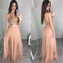Deep V Neck Sequin Sexy Long Popular Prom Dress, Party Dress, PD0312 - $120.00