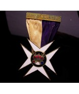 Antique Oddfellow medal - past commandant maltese cross - Jewel Knights ... - $225.00