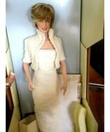 "Franklin Mint Princess Diana Princess Wales 16"" Porcelain Doll White Bea... - $84.15"