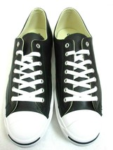 Converse Mens Jack Purcell Classic Leather OX Black White Shoes Size 12 ... - $64.34