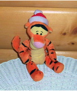"""Winnie Pooh Tigger Plush 7"""" Wears Red & White Holiday Cap Ready to Travel - $7.77"""