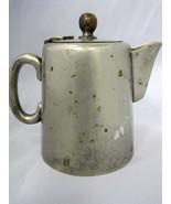 "Vintage Old Creamer Pitcher Nickel Silver Plate Hinged Lid 4"" - $19.99"