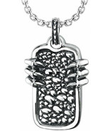 Solid Sterling Silver Dragon Claw Necklace With 24 Inch Curb Chain For Men - $157.90