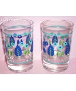 1950'S/1960'S RETRO--ANCHOR HOCKING SWISS CHALET JUICE GLASSES FOR STETSON - $12.45