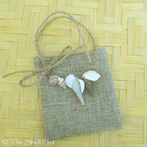 Seashell Christmas Gift Card Ornament Beach Bag Shells Mermaid Bobble Se... - $5.99