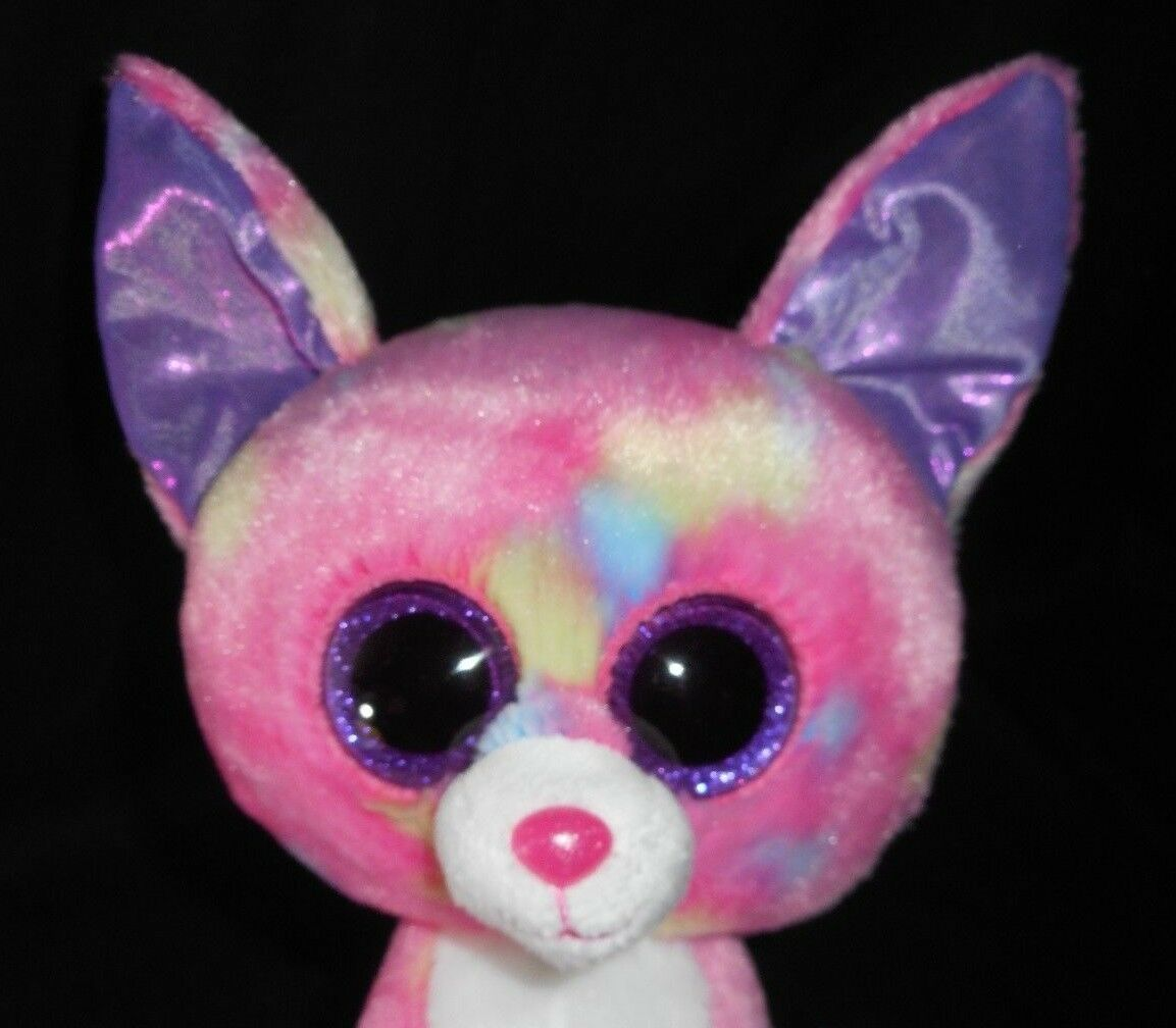 "9"" TY BEANIE BOOS CANCUN PINK CHIHUAHUA PUPPY DOG STUFFED ANIMAL PLUSH TOY W TAG image 2"
