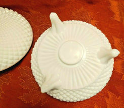 Westmoreland English Hobnail Milk Glass Footed Covered Round Candy Dish Bowl image 4