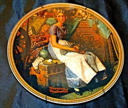 """""""Dreaming in the Attic"""" by Norman Rockwell (Knowles) Plate Hanger AA20-CP2222b"""
