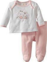 Absorba Baby Girls Friends Two Piece Footed Pant Set   - $25.00