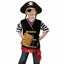 Melissa & Doug Pirate Role Play Costume 6 Piece Dress-Up Set Ages 3-6yrs - $23.55