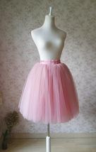 MAUVE A-line High Waist 4 layer Tutu Skirt Knee Length Midi Skirt NWT image 3