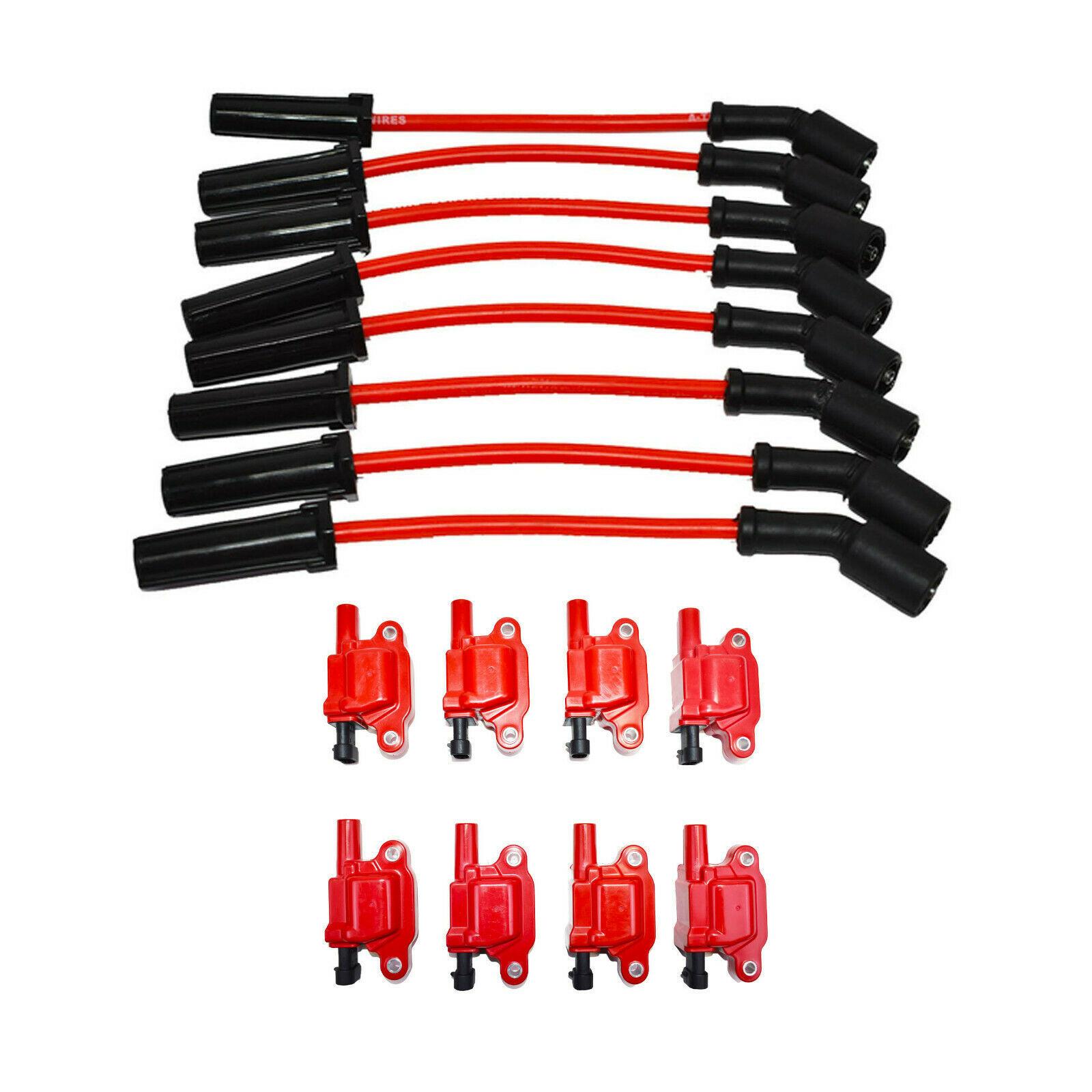 """Chevrolet GM GMC LS LSX LS1 LS2 LS3 LS6 8 Coils & 8"""" 8mm Spark Plug Wires D510C"""