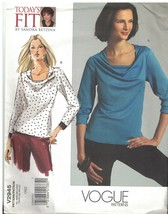 2945 UNCUT Vogue Sewing Pattern Misses Close Fitting Pullover Top Sandra... - $14.84