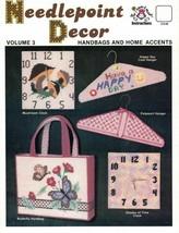 Harold Mangelsen NEEDLEPOINT DECOR Vol 3 for Plastic Canvas Hangers Cloc... - $3.99