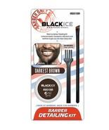 Black Ice Barber Detailing Kit Enhance Beard Mustache Sharp Hairline Bru... - $9.95