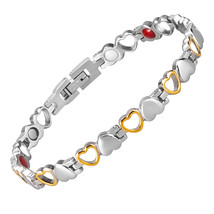 Fashion Healthy Energy Bracelet Hearted design Stainless Steel Health Ma... - $39.95