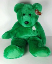 TY Plush Bear #9309 ERIN BEANIE BUDDY BEAR NEW Tags Super Soft Irish Sha... - $20.57