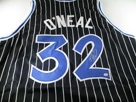 SHAQUILE O'NEAL / NBA HALL OF FAME / AUTOGRAPHED ORLANDO CUSTOM STYLE JERSEY COA