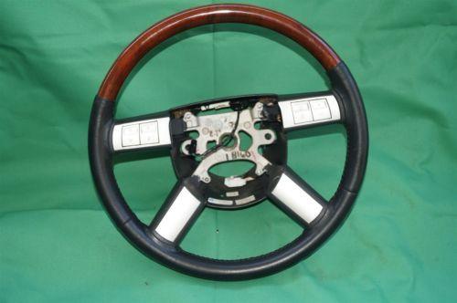 05-07 Chrysler 300 300c Leather Woodgrain Steering Wheel