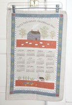 Vtg 1987 Calendar Kitchen Tea Towel Linen  BLESS This House Oh Lord We Pray - $5.68