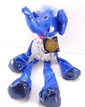 Tubular Blue Elephant Kamar Skoodlez 2008 beanbag plush With Sealed Coin - $10.68