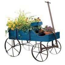 NEW!! Outdoor Decor Planter Wagon Decorative Ga... - $47.51