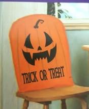 "Halloween Chair Cover Trick or Treat Orange 21"" x 20 "" set 4 Pumpkin USA... - $17.41 CAD"