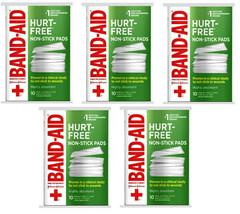 "5 Band-Aid HURT FREE MEDIUM NON-STICK PADS 2"" x 3"" for Minor Cuts Scrapes  - $23.36"