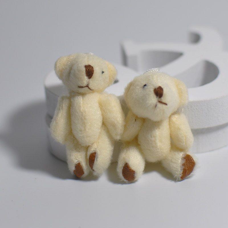 100Pc/Lot 4.5/6CM/7CM Mini Small Joint Teddy Bear Plush Toys,Cute Mini Joint Bea image 3