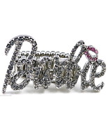 Ring New Iced Out Crystal Rhinestones Stretch Band High Fashion Barbie S... - $19.94