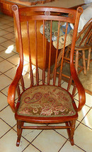 Cherry Bentwood Beehive Spindle Rocker / Rocking Chair   - $499.00