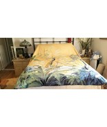 Williams Sonoma Home PAINTED PEACOCK Yellow Full/Queen Duvet Cover  NWOT... - $149.00