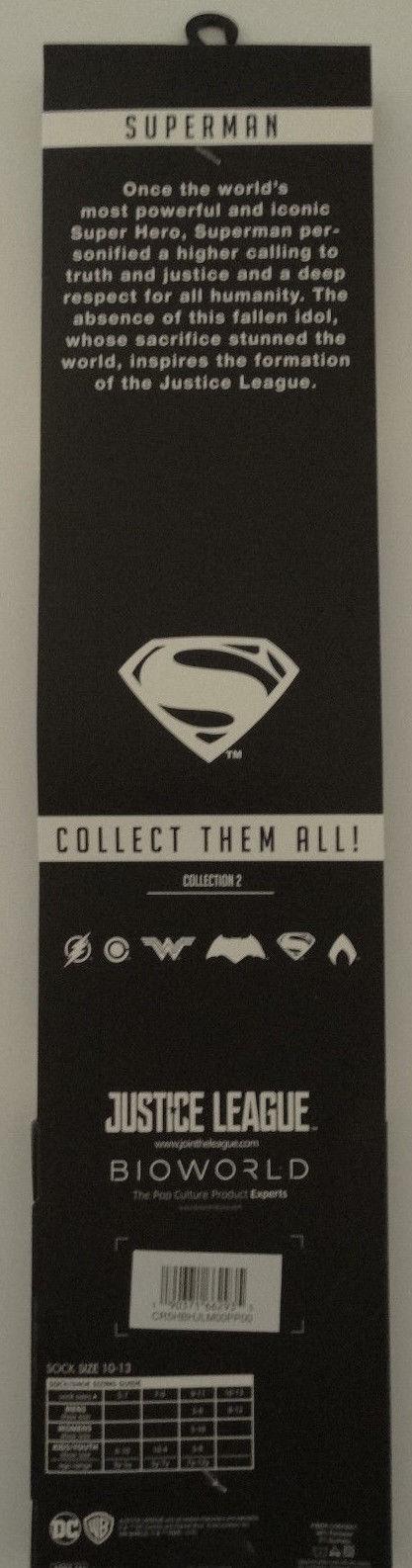 Superman Justice League DC Comics Adult 360 Crew Socks